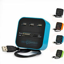Good USB 2.0 HUB with Multi-card Reader Combo for SD/MMC/M2/MS MP-All In One New