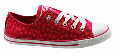 Converse Chuck Taylor All Star Dainty Ox Womens Trainers Low Red 547148C D5