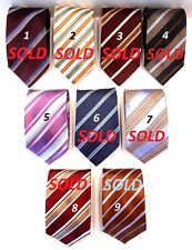 ERMENEGILDO ZEGNA NEW CLASSIC STRIPED SILK TIE MADE IN ITALY - 4 to choose from