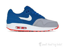 NIKE AIR MAX 1 MILITARY BLUE/WOLF GREY SIZE 3.5 4 4.5 BOYS GIRLS TRAINERS 90 95