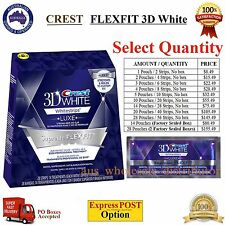 CREST 3D Supreme Flexfit Luxe White Flex Fit Whitestrips Teeth Whitening Strips