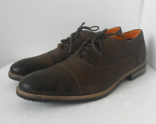 CLARKS MENS STER CAPS BROWN LEATHER LACE UP SHOES UK SIZE 8 G