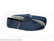 NAVY CASUAL SLIP ON CANVAS FLATS LADIES WOMENS ZAPATILLAS COMFY SHOES