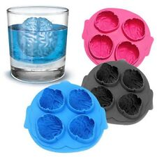 Silicone Brain Shape Ice Freeze Cube Tray Maker Mould Mold Bar Party Drink HU