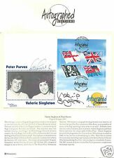 2001 - Flags & Ensigns Valerie Singleton And Peter Purves Autographed First Day