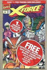 X-Force #1-1991 nm Factory poly Bagged with Deadpool trading card Rob Liefeld