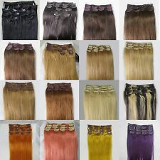 "Fashion Lot Good Price 15""~36"" Remy Human Hair Extensions Clip In Straight Hair"