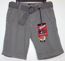 NWT Men's Plugg Belted Casual Shorts Size 30 32 Zinc Gray  100% Cotton
