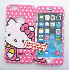 NEW! Hello Kitty Apple iPhone & Samsung S5/6/Note Front & Back Plate Case Cover
