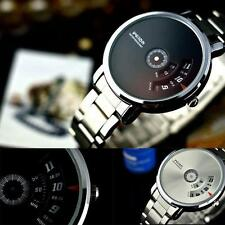 Unique Stainless Steel Men's Military Sport Analog Quartz Dial Wrist Watch