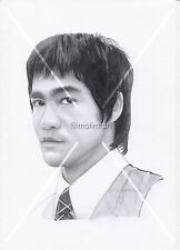 Pencil drawing of Bruce Lee - Hand Drawn BY MOIIMRAN Sketch Dragon A6 A5 A4