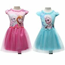 Girls New Prom Ball Party Masquerade Formal Pageant Recital Cartoon Tulle Dress