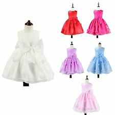 Toddler Baby Girl Tulle Princess Bowknot Dress Graceful Pageant Birthday Party