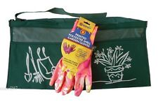 Ladies Gardening Gloves Size 7 or 8 and 2 Pocket Apron Set Freepost!