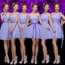Sexy Party Evening Wedding Bridesmaid Prom Graduation Ball Short Dress Formal &1