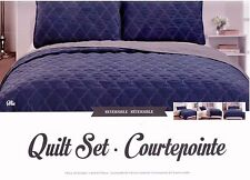 Mia 3PC Reversible Quilt Set ,Size : Queen