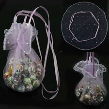 20/50/100Pcs Purple Round Organza Jewelry Packing Pouch Wedding Gift Fine Bags