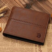 Fashion Mens Leather Bifold Clutch Credit/ID Card Holder Business Wallet Purse