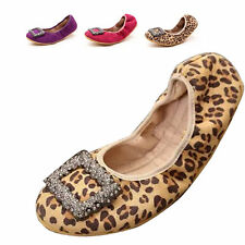 Women Ballet Shoes Shallow Flats Foldable Sexy Soft Loafer Slip On Square Buckle