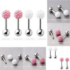 Pearl Flower Ball Steel Ear Tragus Cartilage Bars Barbell Stud Earring Piercing