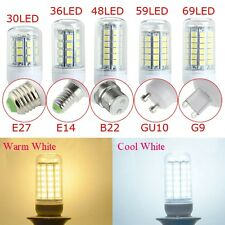 sale E27/E14/G9/GU10/B22 5W 6W 7W 8W 5050 SMD 30/36/48/59/69 LED Light Bulb Lamp