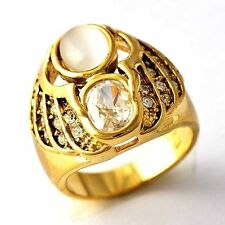 Vintage jewelry mens Womens Wedding CZ Yellow Gold Filled Ring Size 6 7 8 9 10