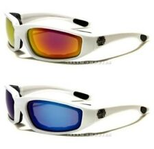 CHOPPERS GOGGLES SUNGLASSES MENS LADIES BIKERS MOTORCYCLE MOTOR BIKE WRAP WHITE