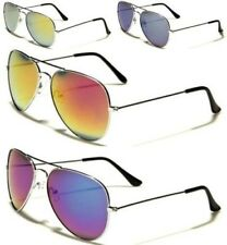 NEW SUNGLASSES SILVER MIRRORED UV400 AVIATOR MENS LADIES VINTAGE RETRO DESIGNER