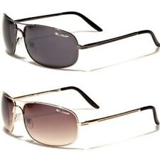 X-LOOP NEW MENS LADIES BLACK METAL MIRRORED AVIATOR PILOT RETRO UV400 SUNGLASSES