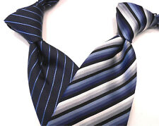 """GIVENCHY PARIS BNWT STRIPED NAVY/BLUE 100% SILK TIE - MADE IN ITALY - W3.75 L57"""""""