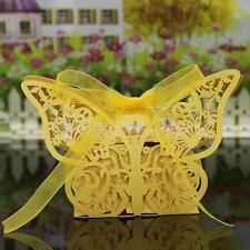 20Pcs Cute Butterfly Wedding Birthday Favor Party w Ribbon Gift Sweets Candy Box