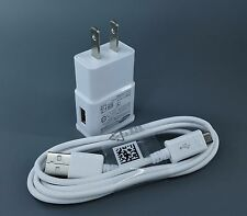 US / EU Wall Charger+USB Data Cable For SamSung Galaxy Note 2 S4 S6 S7