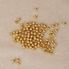 100pcs Finished Round Glitter Copper Spacer Beads 4mm/6mm DIY Jewelry Design