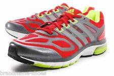 ADIDAS MENS SUPERNOVA SEQUENCE 6 RED SILVER LIME RUNNING RUNNERS GYM SHOES