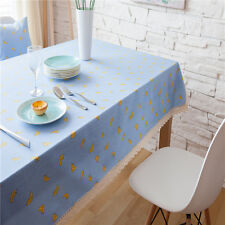Pretty Blue Yellow Banana Dinning Coffee Table Cotton Linen Cloth Covering L