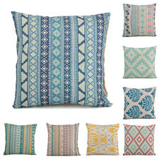 Chic Geometric Flower Cotton Linen Throw Pillow Case Cushion Cover Home Decor