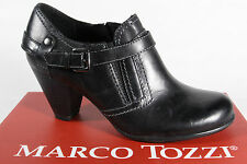 Marco Tozzi Slippers Court shoes leather black new