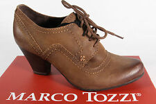 Marco Tozzi Court shoes Lace up Leather brown NEW