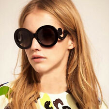 Baroque Fashion Round Circle Vintage Retro Style Women Sunglasses Gradient Lens