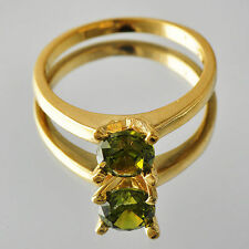 Charming Womens Gold Filled Olive Cubic Zirconia Rings Size 7 8 9