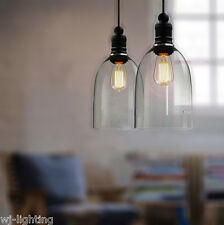 Modern Vintage Retro Bottle Glass Ceiling Pendant Light LED Industrial Lamp