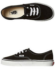 New Vans Boys Kids Authentic Shoe Lace Soft Children Boys Shoes Black