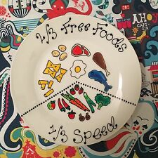 Personalised Slimming World inspired Portion Control Diet Display Plate lrg 27cm