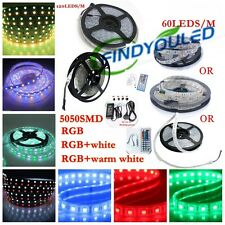 5m SMD 5050 RGB RGBW/W LED Ribbon Strip light Tape 60/120LED/M & remote & power
