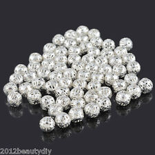 Wholesale SP Filigree Ball Spacer Beads 8mm