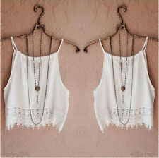 Summer Tops Womens Blouse Short Tops T-Shirt Tee Casual Sleeve Tank Lace