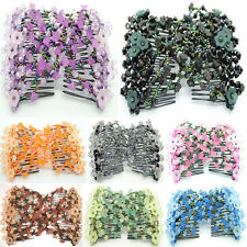 1pc Hand Beaded Magic Hair Comb Elastic Double Clips Hair Accessories Jewelry