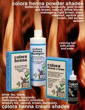 Colora Henna Powdered Organic Hair Color Shades 2oz. - CHOOSE YOURE COLOR
