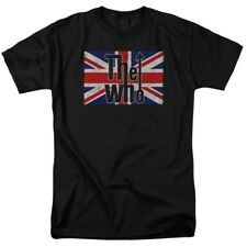 T-Shirts Sizes S-5XL New Authentic Mens The Who Flag Logo Tee Shirt
