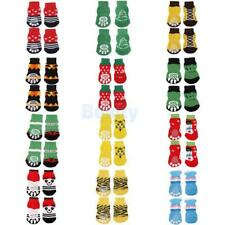 Various Pattern Dog Puppy Cat Non-Slip Shoes Slippers Socks Paws Protector S-XL